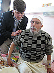 Scott Allen with Patient in Tripoli