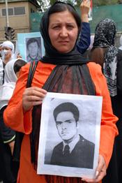 Grieving Afghan Woman
