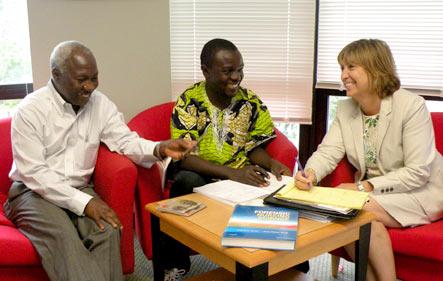 Dr. Mohammed Eisa, Dr. Désiré Alumeti, and Dr. Nancy Cabelus