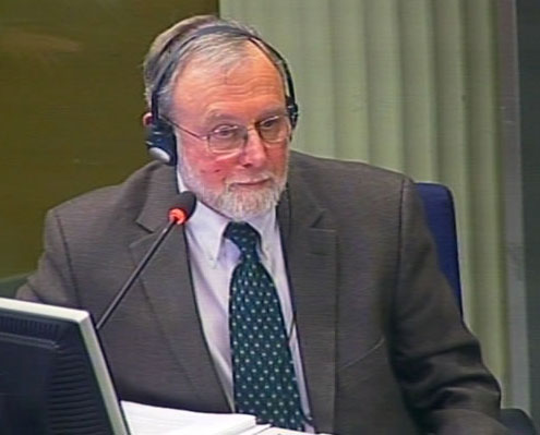 Bill Haglund testifies at the ICT for former Yugoslavia Jan 2012