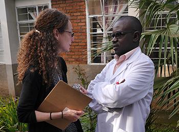 Karen Naimer and Dr Desire Alumeti