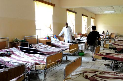 Ward at Panzi Hospital, DRC