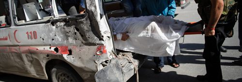 Damaged Ambulance in Syria
