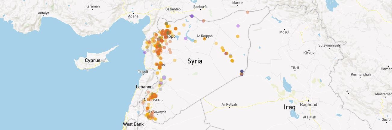 Physicians for Human Rights - A Map of Attacks on Health Care in Syria