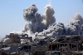 Smoke in Raqqa